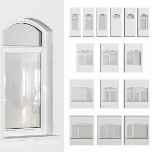Plastic Arched Windows Set
