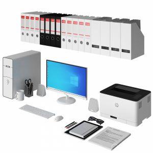 Office White Pc Set