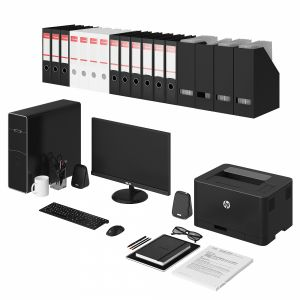 Office Black Pc Set