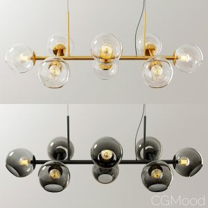 Staggered Glass Chandelier - 8 Light