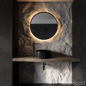Bathroom Rock Wall01