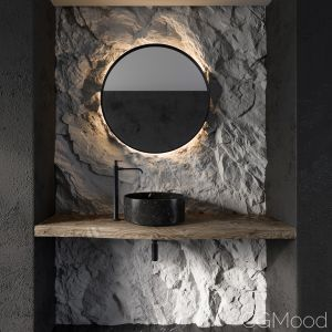 Bathroom Rock Wall02