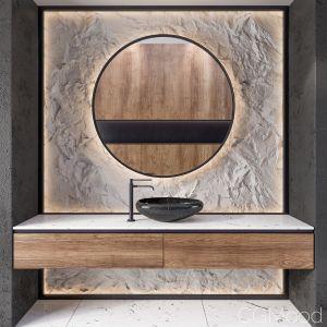 Bathroom Rock Wall03