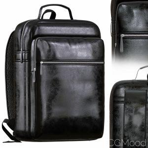 Men Backpack Leather Waterproof