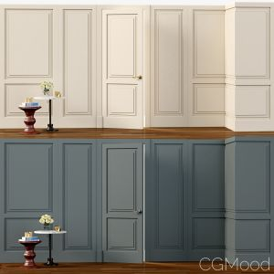 Wall Molding  Boiserie Classic Panels With Door