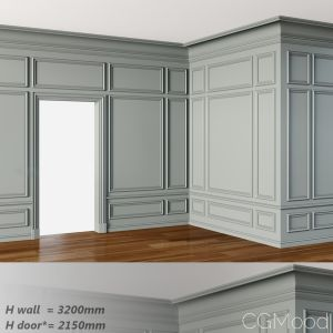 Wall Molding 3 Boiserie Classic Panels