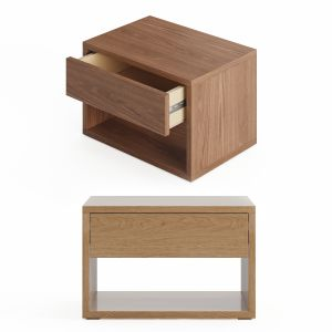 Cube - Low Bedside Drawer Table