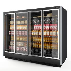 Vertical Glass Door Fridge