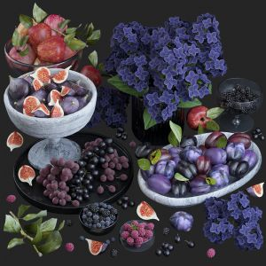 Fruits. Purple
