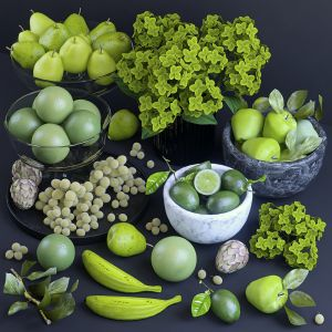 Fruits. Green