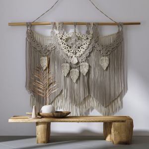 Decorative Set With Wall Hanging Macrame 2