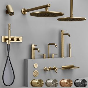 Gessi 316 collection bathroom faucet set (Cesello)