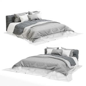 Grey Modern Fabric Bed