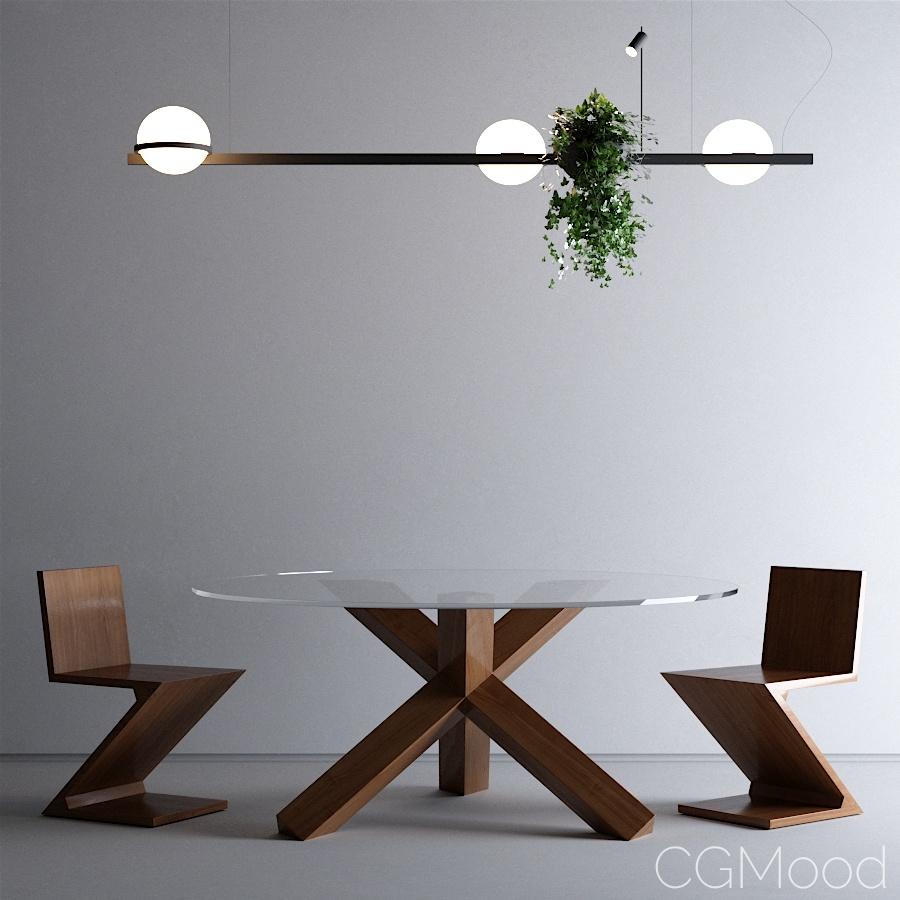 table set - La rotonda + Zig zag + Palma