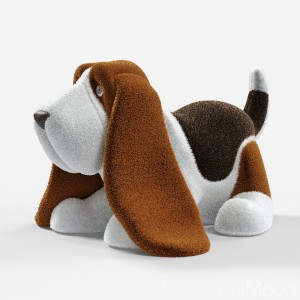 Stuffed Toy Basset Hound