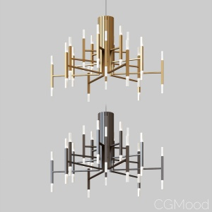 The Light Led Chandelier Black&gold