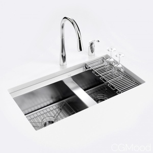 "Kohler ""8 Degree"" Under-mount Kitchen Sink"