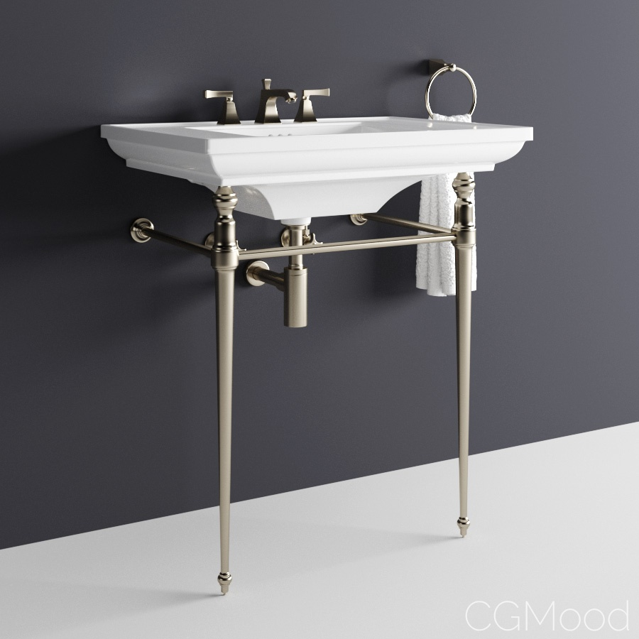 Kohler Memoirs Console Table Bathroom Sink 3d Model For Corona Vray