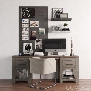 Vaughn Wide Storage Desk