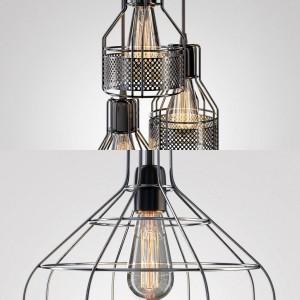 Loft metal chandelier