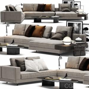 Minotti White Sofa