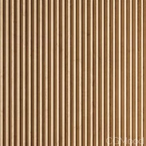 Triangular Section Wooden slats (displacement)