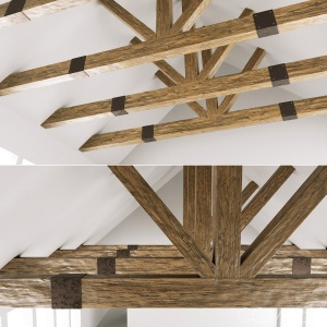 Wooden Ceiling Beams For Barn