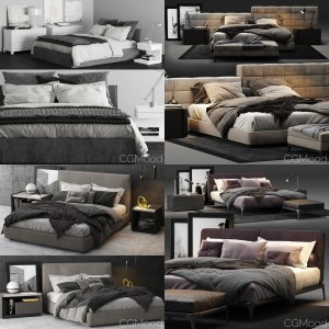 Bed Collection Vol. 1 (4 Models)