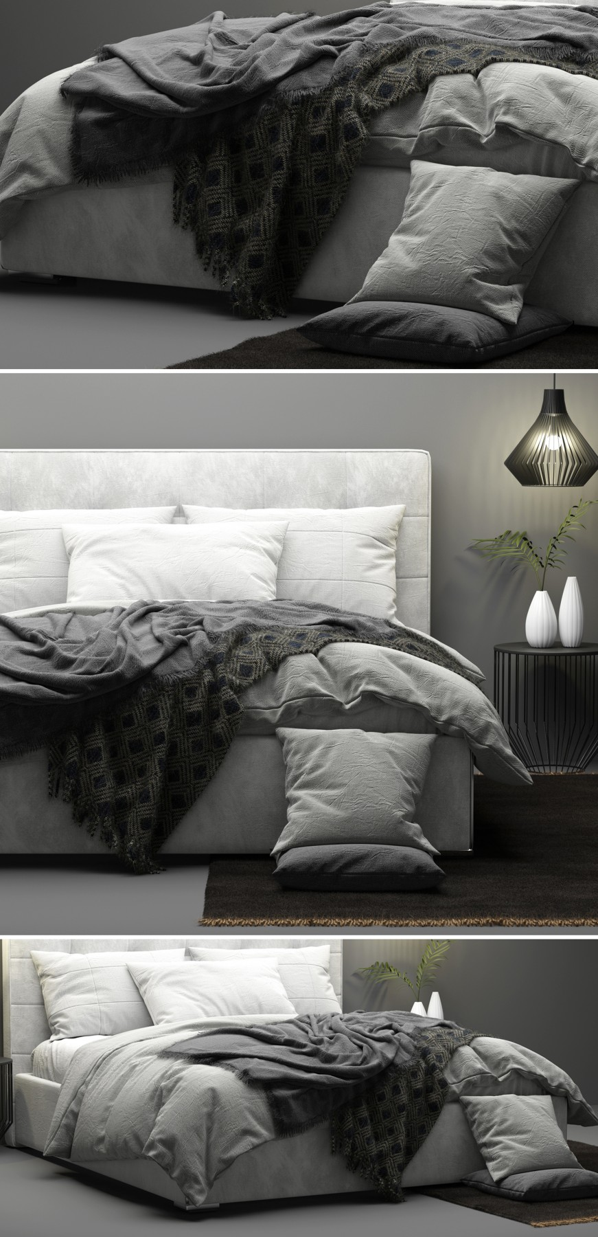Mezzo Bed Boconcept 3d Model For Vray