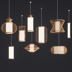 9 Bamboo Rattan Lamp