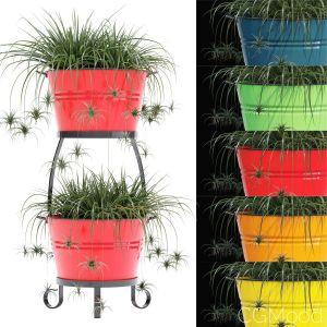 Round Iron Pot Planter