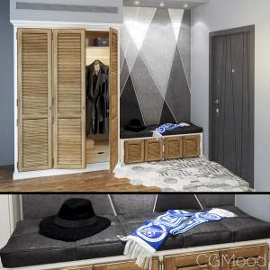 Hallway Set - Wardrobe 3 Doors