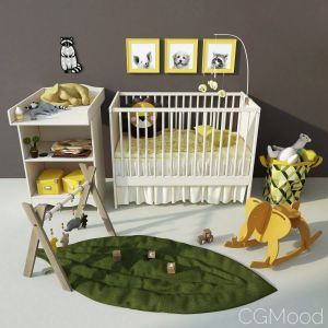 Ikea Children's Cot And Changing Table Solgul