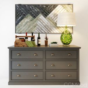 Palermo Gray Dresser With 6 Drawers