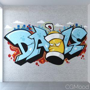 Bricks (PBR) and Graffiti material