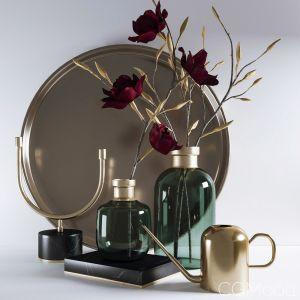 Decorative Set With Magnolia