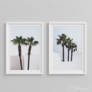 Print Palm Trees Set Of 2 By Eichholtz