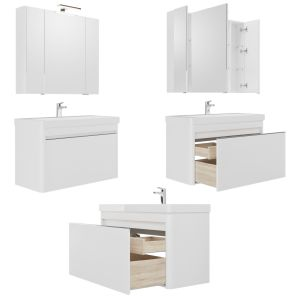 Furniture Set Vilora 60/80/105 White Gloss