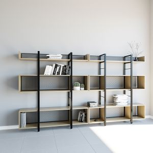 Ts-17  Rectangular Barrier Bookcase Before Packing