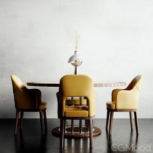 Ale Table-judit Flexform Armchairs Set