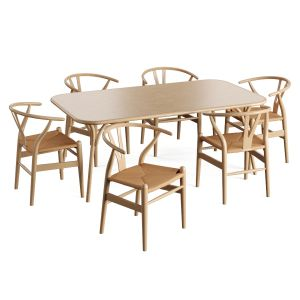 Wooden Table Chair Ch24 Rope