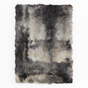 Sheepskin Rug Rectangle Dark Gray