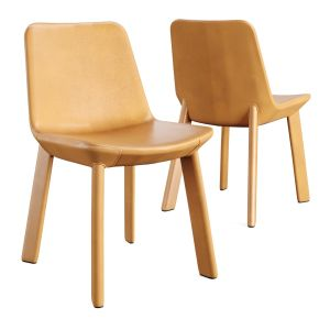Bludot_neat Leather Dining Chair