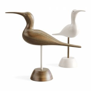 Hand Carved Wooden Sandpiper
