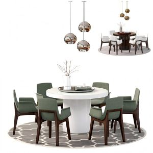 Berkeley 71 Dia Table And Mercer Chair