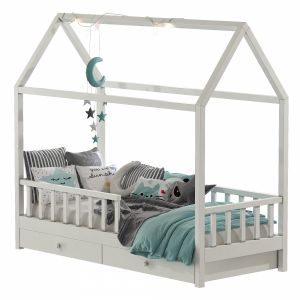Childrens Bed With Columns Set 46