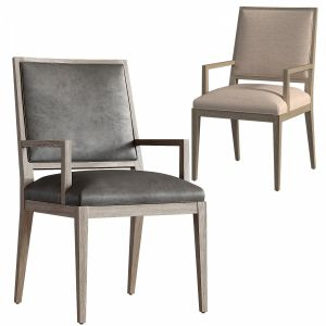 French Contemporary Square Leather Armchair