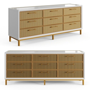 Rattan Bamboo Cabinet Serena Lily 1
