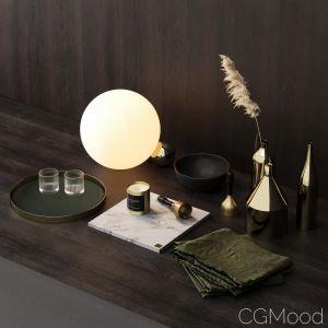 Skultuna Decor Set With Flos Copycat Lamp