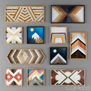 Geometric Wood Art_wood Wall Art_scandinavian_ikea